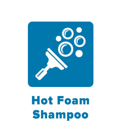 Hot foam shampoo